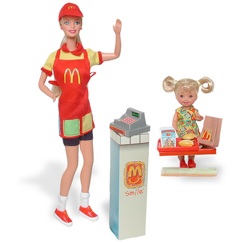Barbie's doll became serving McDonald's