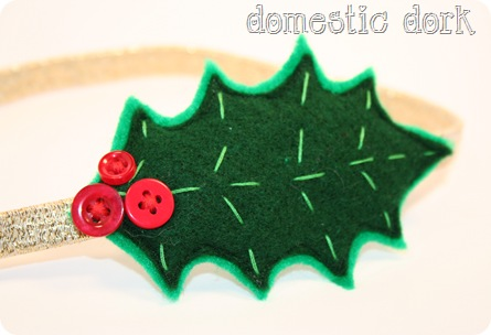 etsy holly hair head band christmas
