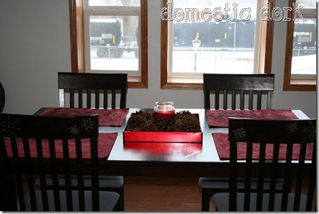 Christmas table setting dining