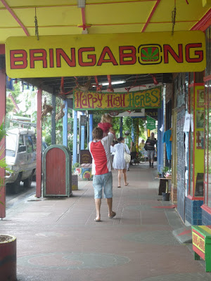 Nimbin the hippy town - see the signs