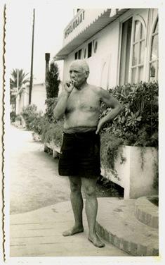 Pablo Picasso em Golf-Juan, Agosto de 1951_