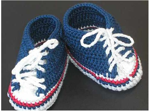 sport shoes for kids: free crochet patterns