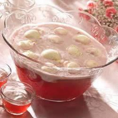 Cran-Raspberry Snowball Punch