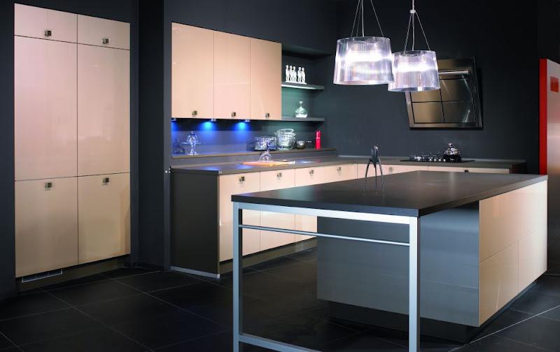alno ag einbauk che alnoflash hgl champagner metallic. Black Bedroom Furniture Sets. Home Design Ideas