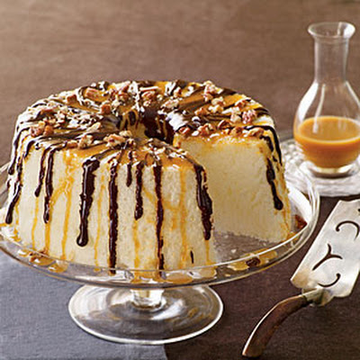 Chocolate-Caramel Angel Food Cake