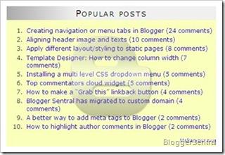 Blogger popular posts 2