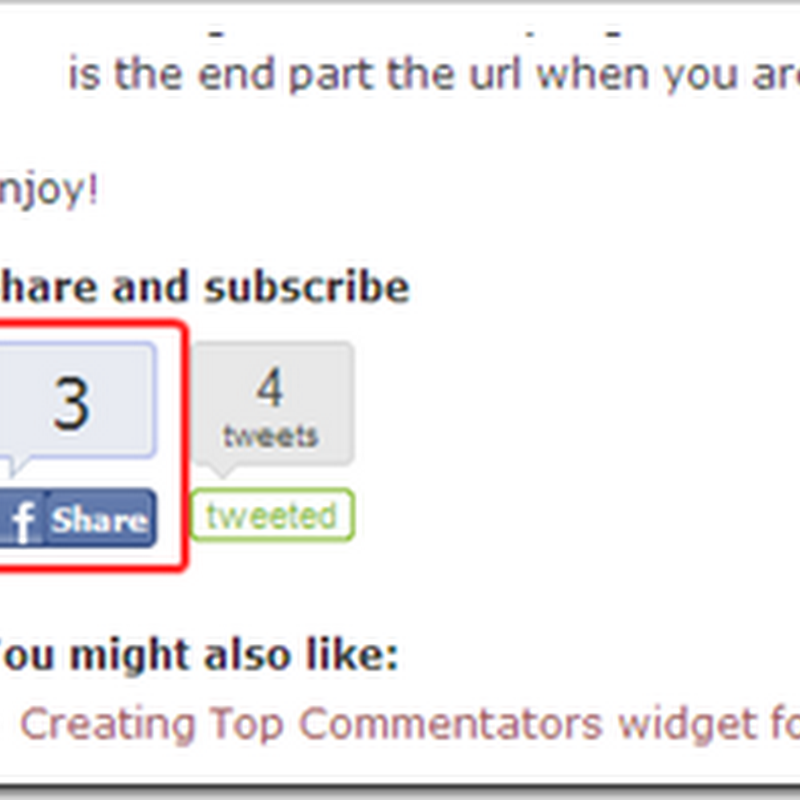 Add Facebook share button with counter
