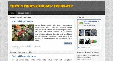 tinted panes free designer Blogger template_2