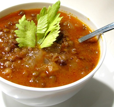 Lentil Stew by Megi Senmenek at Linden Tea [photo used with permission of photographer]