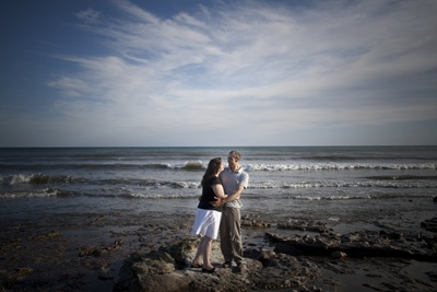 Katie and Daniel on the Beach in Quequn, Argentina by Elizabeth Lovelace [FotosEli]