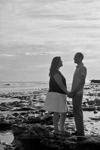 Katie and Daniel Black and White by Elizabeth Lovelace [FotosEli]
