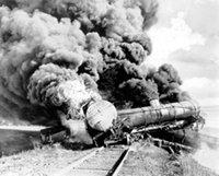Smoking train wreck