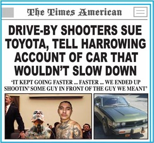 Driveby shooters sue Toyota, tell harrowing account of car that wouldn't slow down