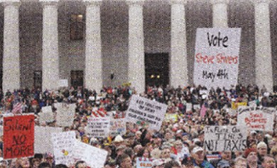 Faked image from teabagger rally
