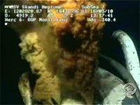BP's underwater leak gushes crude