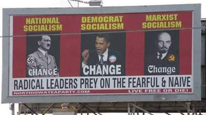 Dumbass teabagger billboard