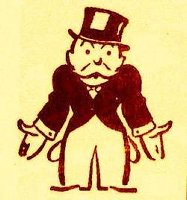 Monopoly guy with empty pockets