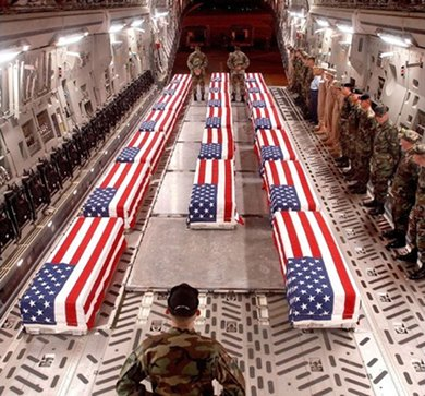 Flag-drape coffins return from Iraq
