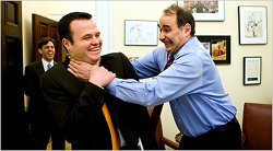 Axelrod chokes a staffer