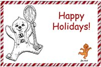 Gingerbread man wishes 'Happy Holidays!'