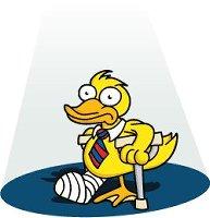 Cartoon 'lame duck'
