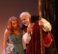 Actors performing 'The Tempest'