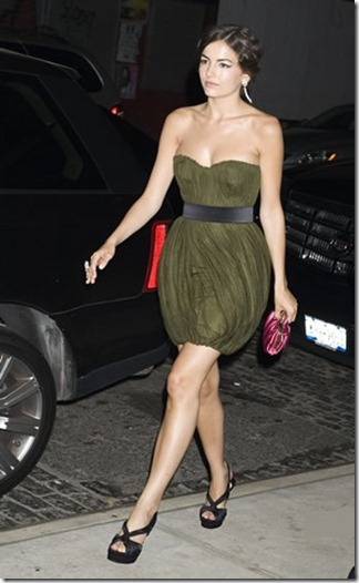 camilla-belle-and-jason-wu-custom-olive-green-silk-tulle-draped-cocktail-dress-gallery1