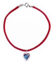 Kabbala Red String Bracelet with Evil Eye Protector