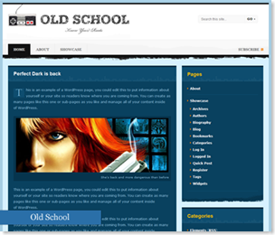Old School Wordpress Theme, school themes, school templates