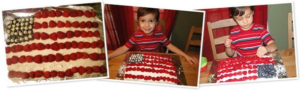 View Amer Flag Cake