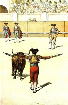 Cite en corto para  banderillas de frente La Lidia 19-11-1893)