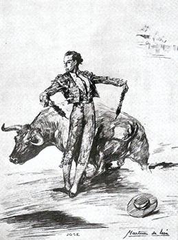 Joselito el gallo Banderilleando (Martinez de Leon) 001