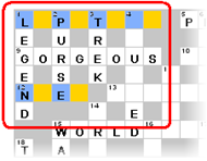 Top-Left Corner Of Crossword Grid