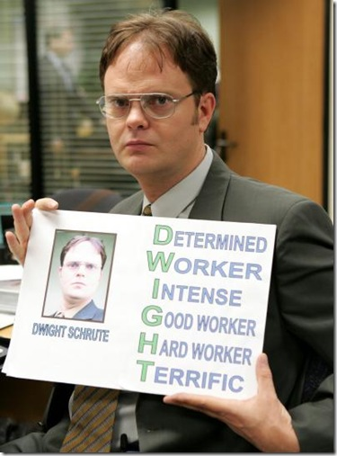 """THE OFFICE -- NBC Series -- """"Performance Review"""" -- Pictured: Rainn Wilson as Dwight Schrute -- NBC Universal Photo: Justin Lubin FOR EDITORIAL USE ONLY -- DO NOT RE-SELL/DO NOT ARCHIVE"""