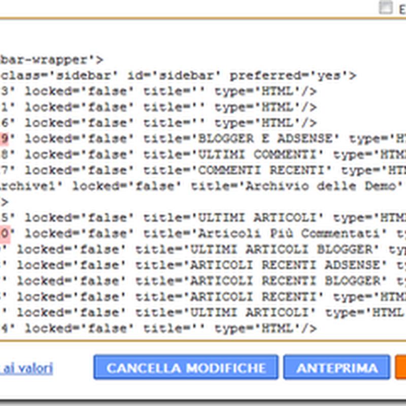 Come cambiare l'aspetto di ogni singolo widget in Blogger.