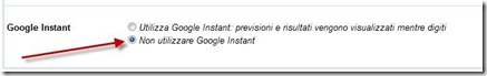 google-instant-disattiva