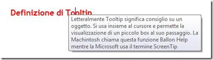 definizione di tooltip
