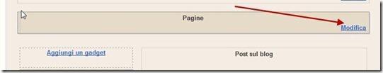 pagine statiche widget