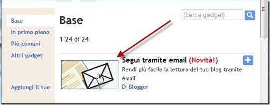 segui tramite email blogger