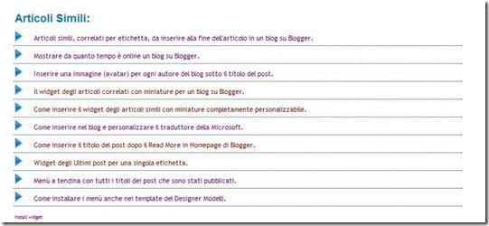 widget articoli simili
