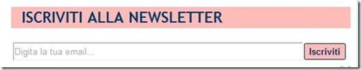 widget iscrizione newsletter blogger