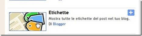etichette blogger widget
