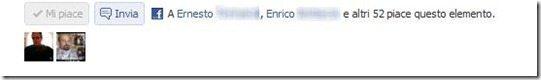 pulsanti invia e mi piace su Facebook