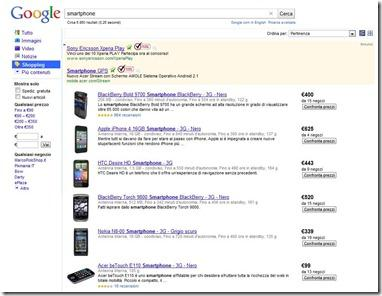 confrontare prodotti google shopping