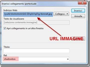 inserimento immagini windows live writer shadowbox