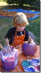 Morris Museum Festival pumpkin painting