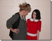 Barbi McGuire as Miss Hannigan (Maplewood) and Jennie Silber as Annie (Cedar Grove)