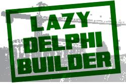 Lazy Delphi Builder Grunge Stamp logo