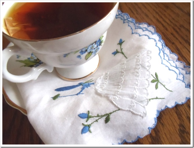 cup of tea w napkin