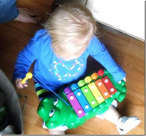 Lena plays xylophone